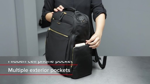 Tumi Voyageur Ari Tumi T-Pass Backpack - image 5 from the video