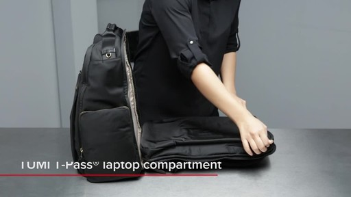 Tumi Voyageur Ari Tumi T-Pass Backpack - image 7 from the video