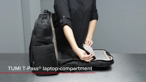 Tumi Voyageur Ari Tumi T-Pass Backpack - image 8 from the video