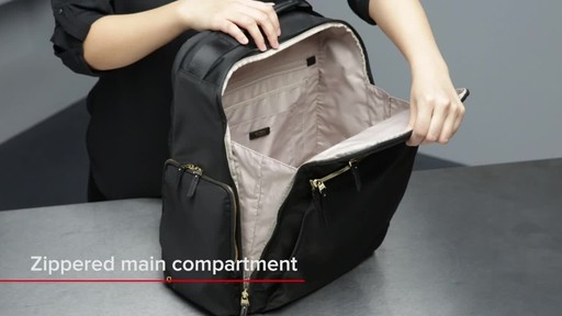 Tumi Voyageur Ari Tumi T-Pass Backpack - image 9 from the video