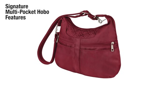 Travelon Anti-theft Signature Multi-Pocket Hobo Bag - eBags.com - image 2 from the video