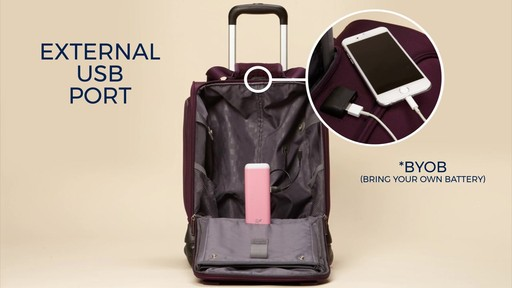 Samsonite Spinner Underseater with USB Port eBags Exclusive - image 2 from the video