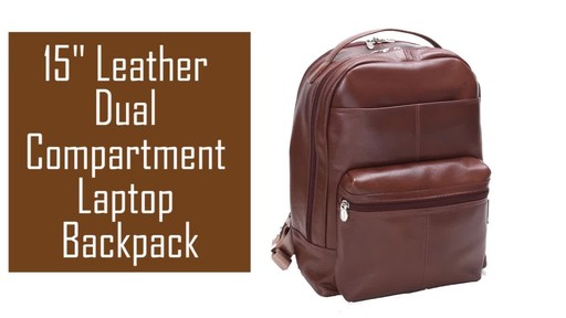 McKlein USA Parker Dual Compartment Laptop Backpack - image 2 from the video