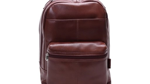 McKlein USA Parker Dual Compartment Laptop Backpack - image 3 from the video