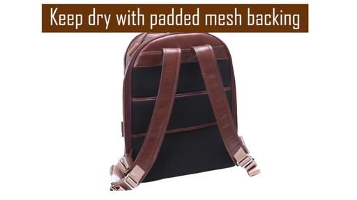 McKlein USA Parker Dual Compartment Laptop Backpack - image 4 from the video