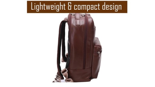 McKlein USA Parker Dual Compartment Laptop Backpack - image 6 from the video