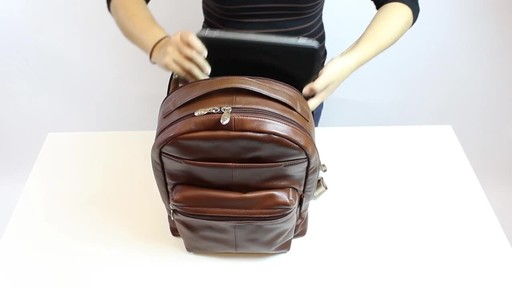 McKlein USA Parker Dual Compartment Laptop Backpack - image 9 from the video