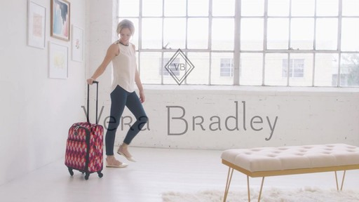 Vera Bradley 22 Spinner Carry-on - Shop eBags.com - image 10 from the video