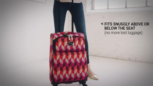 Vera Bradley 22 Spinner Carry-on - Shop eBags.com - image 3 from the video