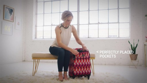 Vera Bradley 22 Spinner Carry-on - Shop eBags.com - image 6 from the video