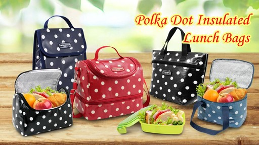 Jacki Design Polka Dot Insulated Lunch Bags - Shop eBags.com - image 1 from the video