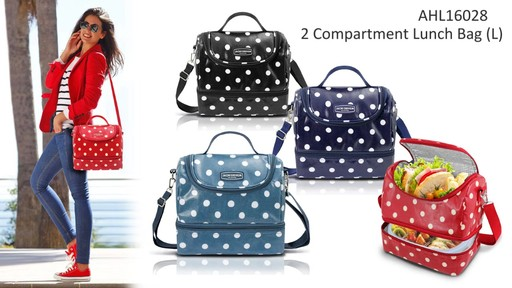Jacki Design Polka Dot Insulated Lunch Bags - Shop eBags.com - image 4 from the video