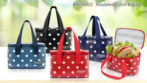 Jacki Design Polka Dot Insulated Lunch Bags - Shop eBags.com - image 7 from the video