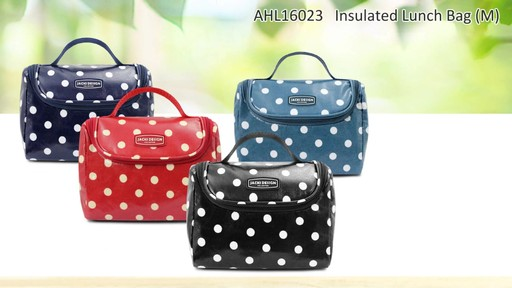 Jacki Design Polka Dot Insulated Lunch Bags - Shop eBags.com - image 9 from the video