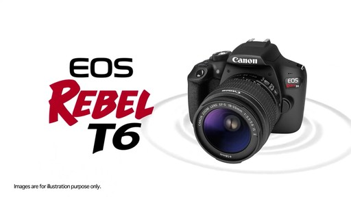 Canon EOS Rebel T6 18-55 IS II DSLR Camera Kit - image 10 from the video