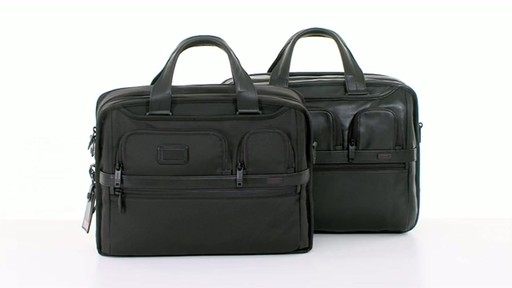 Tumi Alpha 2 Expandable Organizer Laptop Brief - image 1 from the video