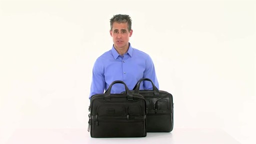Tumi Alpha 2 Expandable Organizer Laptop Brief - image 10 from the video