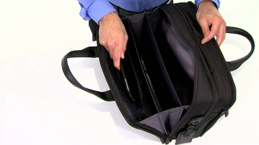 Tumi Alpha 2 Expandable Organizer Laptop Brief - image 2 from the video