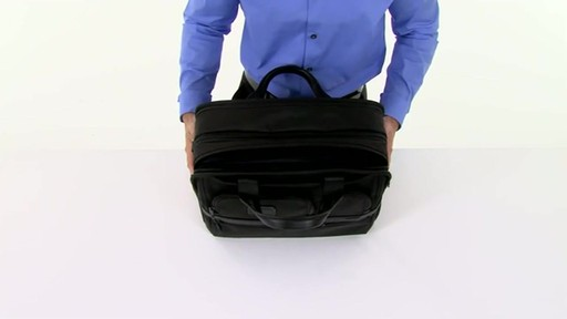 Tumi Alpha 2 Expandable Organizer Laptop Brief - image 3 from the video