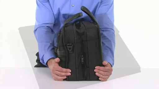 Tumi Alpha 2 Expandable Organizer Laptop Brief - image 4 from the video