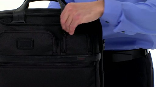 Tumi Alpha 2 Expandable Organizer Laptop Brief - image 6 from the video