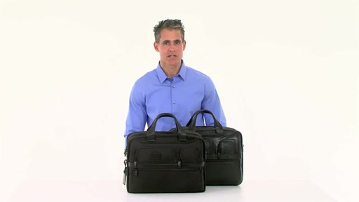 Tumi Alpha 2 Expandable Organizer Laptop Brief - image 7 from the video