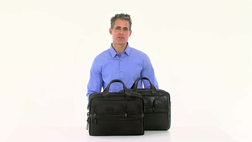 Tumi Alpha 2 Expandable Organizer Laptop Brief - image 8 from the video