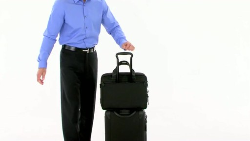 Tumi Alpha 2 Expandable Organizer Laptop Brief - image 9 from the video