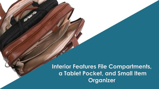 McKlein USA R Series Rockford Leather Laptop Case - image 4 from the video