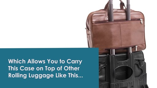McKlein USA R Series Rockford Leather Laptop Case - image 7 from the video
