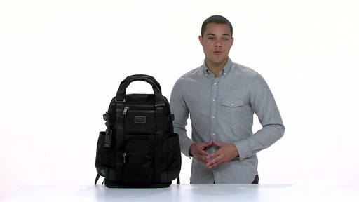 Tumi Alpha Bravo Lejeune Backpack Tote - eBags.com - image 7 from the video