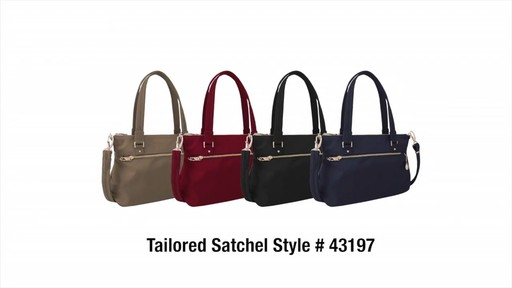 Travelon Anti-Theft Tailored Satchel - image 10 from the video