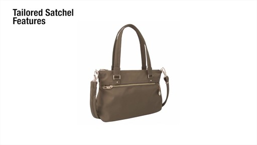 Travelon Anti-Theft Tailored Satchel - image 2 from the video