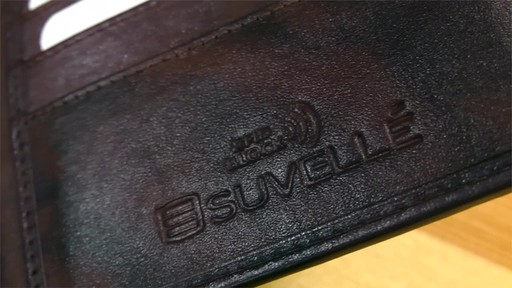 Suvelle Bifold Mens Genuine Leather Slim RFID Wallet - image 4 from the video