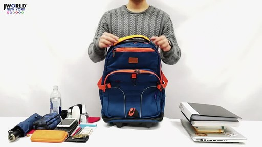 J World New York Lunar Laptop Rolling Backpack - image 1 from the video