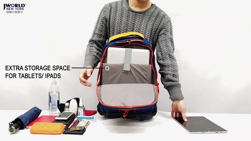 J World New York Lunar Laptop Rolling Backpack - image 3 from the video
