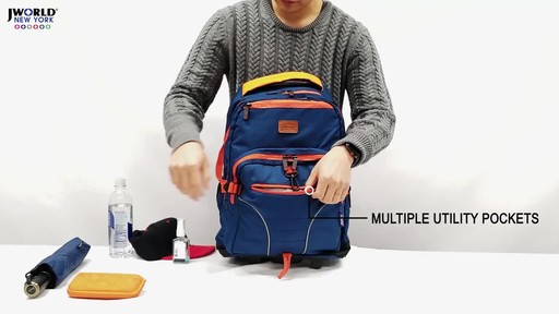 J World New York Lunar Laptop Rolling Backpack - image 6 from the video