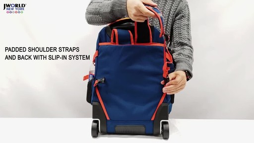 J World New York Lunar Laptop Rolling Backpack - image 9 from the video