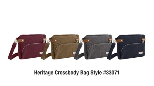 Travelon Anti-Theft Heritage Small Crossbody Bag - image 10 from the video