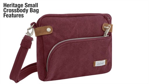 Travelon Anti-Theft Heritage Small Crossbody Bag - image 2 from the video