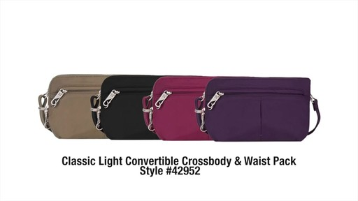 Travelon Anti-Theft Classic Light Convertible Crossbody and Waistpack - Shop eBags.com - image 10 from the video