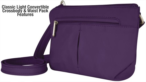 Travelon Anti-Theft Classic Light Convertible Crossbody and Waistpack - Shop eBags.com - image 2 from the video