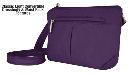 Travelon Anti-Theft Classic Light Convertible Crossbody and Waistpack - Shop eBags.com - image 3 from the video