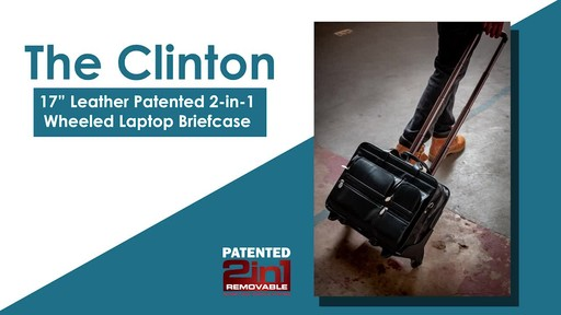 McKlein USA Clinton Leather Wheeled 17