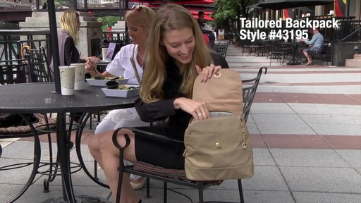 Travelon Anti-Theft Tailored Backpack - image 1 from the video