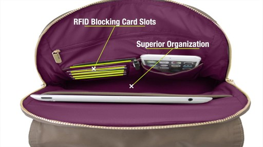 Travelon Anti-Theft Tailored Backpack - image 8 from the video