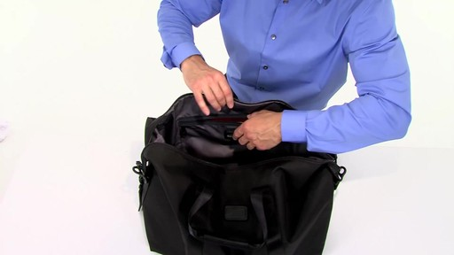 Tumi Alpha 2 Small Soft Travel Satchel - eBags.com - image 8 from the video