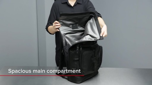 Tumi Alpha Bravo London Roll-Top Laptop Backpack - image 7 from the video