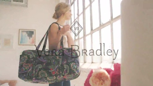 Vera Bradley Iconic Large Travel Duffel - image 10 from the video