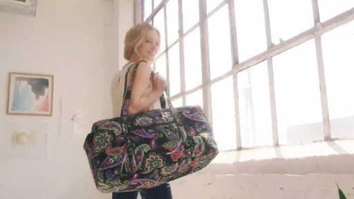 Vera Bradley Iconic Large Travel Duffel - image 3 from the video